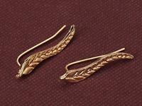 Christmas Thanksgiving gift Gold Leaf Earrings Women Sweep Wrap Ear Climber