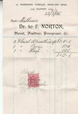 New listing 1906 Great Britain #128 revenue use for funeral flowers *d