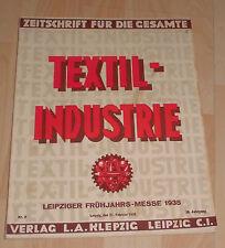 dachbodenfund zeitschrift textil industrie leipziger messe 1935 katalog prospekt