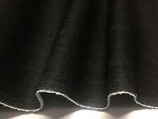 7.5oz Denim Fabric *160cm wide  * Cotton Spandex  * Classic Black Stretch Denim