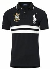 Hommes Ralph Lauren Premium Big Pony Custom Fit Noir Nº 1 POLO XL T-Shirt £ 0.99