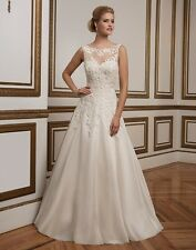 BRAND NEW LACE AND ORGANZA WEDDING GOWN -- SIZE 20