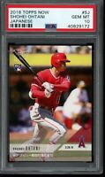 2018 Topps Now #5J Shohei Ohtani RC PSA 10 Gem Mint Rookie Card Japanese