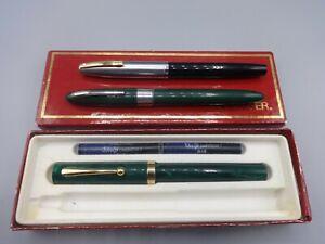 Job Lot Sheaffer Imperial & No Nonsense Fountain Pens Fineline Ballpen GC
