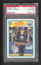 Pierre Turgeon 1988-89 Topps Rookie Card #194 Sabres PSA 8 NMMT
