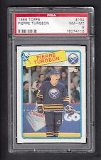 Pierre Turgeon 1988-89 Topps Rookie Card #194 Sabres PSA 8 NMMT