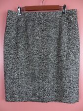 SK12480- NEW COLDWATER CREEK Womens Polyester Wool Pencil Skirt Silver Sparks 16