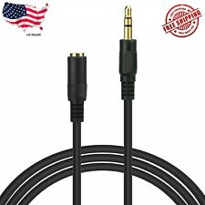 "5 ft 3.5mm 1/8"" Stereo Audio Aux Headphone Cable Extension Cord Male to Female"