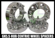 4 CHEVY SILVERADO HUB CENTRIC 6X5.5 WHEEL SPACERS 1.5 INCH THICK 14X1.5 STUDS