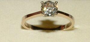 Ring  mit Altschliff  Brillant 1,15 ct Brillantring 750 Gold, 18k, Gr. 60