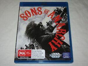 Sons Of Anarchy - Season 3 - 3 Disc Set - VGC - Region B - Blu Ray