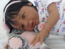 "Reborn 21"" African American/Ethnic/Biracial Baby Girl Doll ""Kayla"" (Eva Helland)"