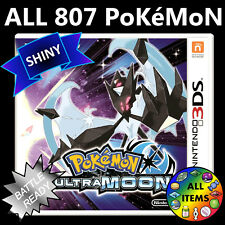 Pokemon Ultra Moon Unlocked All 807 Shiny Battle Ready Nintendo 3DS