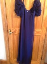 BNNT FAB COLD SHOULDER PROMS/RACES/WEDDING NAVY BLUE FULLY LINED KALEIDOSCOPE 10