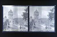 Cahors Pont Valentré Foto Stereo Negativo Su Film Morbido 1914