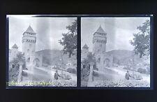 Cahors Pont ValentréPhoto stéréo négatif sur film souple 1914