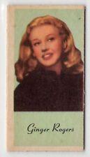 American Peerless Weighing Weight Machine Card US Actress Dancer Ginger Rogers