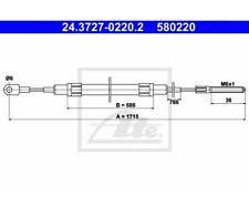 ATE Bremsseil Bmw 5(E28) 24.3727-0220  ATE 24.3727-0220.2