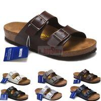 New Birkenstock Arizona Birko-Flor Slip-On Cork Sandal Unisex Shoes Large Size