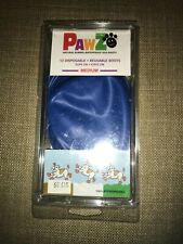 "PAWZ Top Paw Waterproof Dog Boots Medium 12 pack for Paws 2""-3"" Blue"