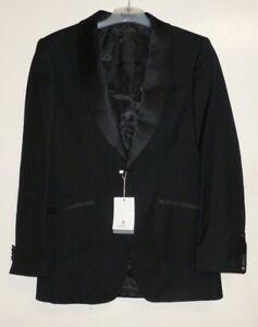 Alexander Dobell 1 Button Black Dinner Jacket Shawl Lapel Size 36R SALEx UU 13