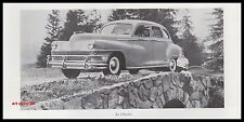 Publicité Automobile Chrysler  car photo vintage  ad  1946 - 2h