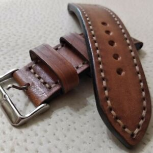 Genuine Brown Leather Watch Band Strap for  ALL BRANDS 24mm 22 mm 20 mm 18 mm