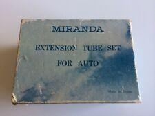 Miranda macro close-up extension tube set with original box