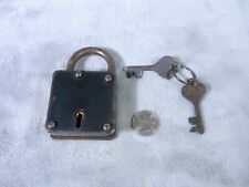 Hand Made Padlock Two Keys Steel & Brass Well Made Does Work Vintage Antique