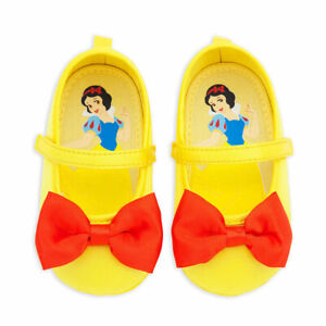 NEW Disney Store 6 12 18 24 M Snow White Baby Costume Shoes Yellow NEW