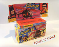 CORGI JUNIORS - BATCOPTER - Superb custom display box and tray ONLY. Assembled