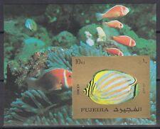 Fujeira 1973 ** Bl.141 B Fische Fish Poissons