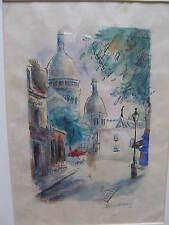 paris année 20,Montmartre .dessin de J. Felicia Simon