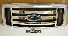 2009 - 2014 Ford F-150 Front Chrome 3 Bar Grille w/ Emblem new OEM DL3Z-8200-DA