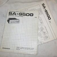 Vintage PIONEER SA 9500 Stereo Amplifier Instruction Manual & Schematic J458