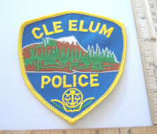 ~CLE ELUM POLICE~WASHINGTON FABRIC PATCH~