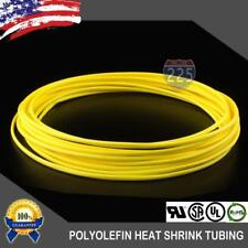 "25 FT. 25' Feet YELLOW 1/8"" 3mm Polyolefin 2:1 Heat Shrink Tubing Tube Cable US"