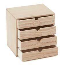 Milward Wooden Storage Box Drawers - Sewing Notions Crafts Organiser Gift