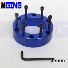 25MM   STEERING WHEEL PAD SPACER HUB ADAPTER GASKET 6BOLTS AL  LEN KEY