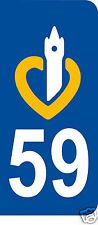 1 Sticker plaque AUTO adhésif département 59
