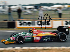 Thierry Boutsen main signé benetton photo 8x6.