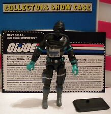 GI JOE ~ 1998 SHIPWRECK ~ NAVY SEAL ~ DIVER 100% COMP & CARD ~ like 1985