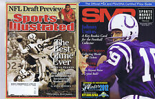 COLTS & PACERS LOT OF  MAGAZINES - MANNING LUCK MORE