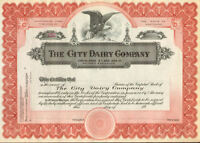 The City Dairy Company > Maryland stock certificate share