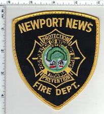 Newport News Fire Dept. (Virginia) Uniform Take-Off Shoulder Patch from 1980's