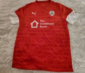 AUTHENTIC PUMA BARNSLEY F. C. HOME JERSEY MENS L/XL SEE . SEE MEASUREMENTS.