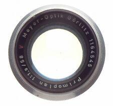 PRIMOPLAN 1:1.9/58 Meyer-Optik RED V chrome Exakta mount 1.9 f=58mm serviced