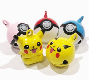 Pokemon Bell for Dogs & Cats - Collar Bell Pikachu Pokeball Love Ball Great Ball