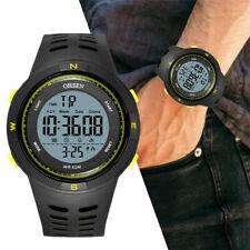 Reloj de pulsera Ohsen para hombre electrónico digital 2001 Hora Dual noctilucous Banda de Goma