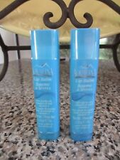 Lot of 2 Aquafina Lip Balm With Jojoba Oil Almond Oil & Vitamin E Pure Original